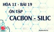 Bài tập ôn tập Cacbon, Silic và hợp chất của Cacbon, Silic - hóa 11 bài 19